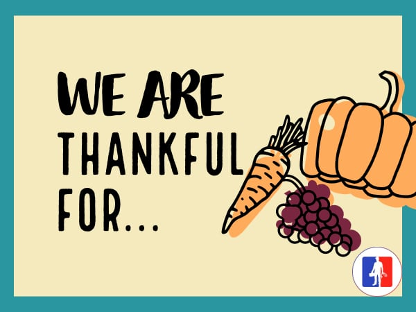 We Are Grateful For You